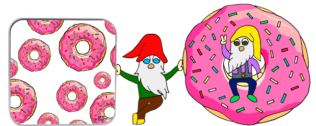 Duendes entre donuts e powerbank
