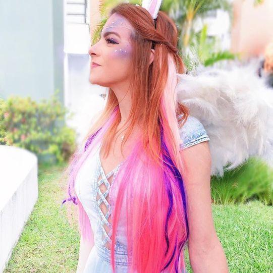 cabelo unicornio